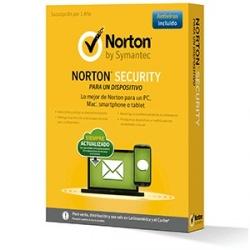 Symantec Norton Security 2.0 Español, 1 Usuario, 1 PC, 1 Año (Caja)