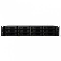 Synology Servidor NAS RS3618XS de 12 Bahías, máx. 192TB, Intel Xeon D-1521 2.40GHz, 8GB DDR4, USB 3.0, Negro ― no incluye Discos