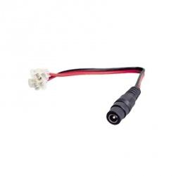 Syscom Cable de Alimentacion para Cámara, Negro/Rojo