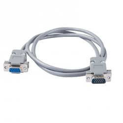 Syscom Cable VGA Macho - RS-232 Hembra, 70cm, Gris