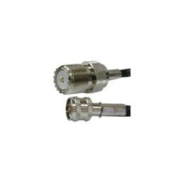 Syscom Cable Coaxial Mini UHF Macho - UHF Hembra, 2 Metros, Negro
