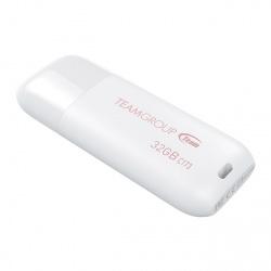 Memoria USB Team Group C173, 32GB, USB 2.0, Blanco