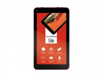 Tablet TechPad i700 7'', 8GB, 1024x600 Pixeles, Android 5.1, Rojo