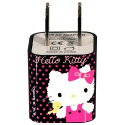 TechZone Cargador Hello Kitty, 1x USB 2.0, Multicolor