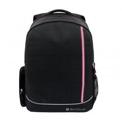 Techzone Mochila de Nylon TZBTS17-R para Laptop 15.6'', Negro