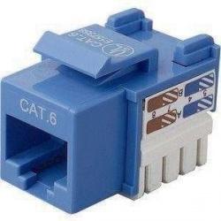 TE Connectivity Jack Modular Categoría 6 UTP, RJ-45, Azul