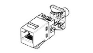 TE Connectivity Jack Modular Categoría 5e UTP, RJ-45, Azul