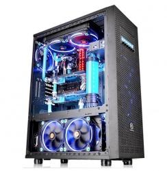 Gabinete Thermaltake Core X71 TG Edition con Ventana, Full-Tower, ATX/Micro-ATX/Mini-ITX, USB 2.0/3.0, sin Fuente, Negro
