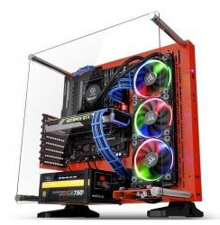 Gabinete Thermaltake Core P3 SE Red Edition con Ventana LED RGB, Midi-Tower, ATX/Micro-ATX/Mini-ITX, USB 2.0/3.0, sin Fuente, Rojo
