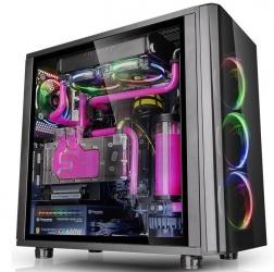 Gabinete Thermaltake View 31 TG RGB con Ventana, Midi-Tower, ATX/Micro-ATX/Mini-ITX, USB 2.0/3.0, sin Fuente, Negro