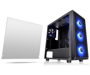 Gabinete Thermaltake Versa J23 con Ventana RGB, Midi-Tower, ATX/Micro-ATX/Mini-ITX, USB 3.0/2.0, sin Fuente, Negro