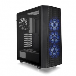 Gabinete Thermaltake Versa J24 Tempered Glass RGB Edition, Midi-Tower, ATX/Micro-ATX/Mini-ITX, USB 3.2, sin Fuente, Negro