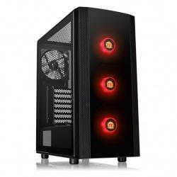 Gabinete Thermaltake Versa J25 TG RGB con Ventana, Midi-Tower, ATX/Micro-ATX/Mini-ITX, USB 3.0, sin Fuente, Negro