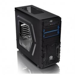 Gabinete Thermaltake Versa H23 con Ventana, Midi-Tower, ATX/micro-ATX, USB 2.0/3.0, con Fuente de 600W, Negro