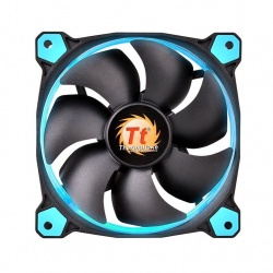 Ventilador Thermaltake Riing 12 LED Azul, 120mm, 1000-1500RPM, Negro/Azul