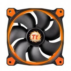 Ventilador Thermaltake Riing 12, LED Naranja, 120mm, 1000-1500RPM, Negro/Naranja
