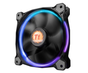 Ventilador Thermaltake Riing 14 LED RGB 256 Colores, 140mm, 800-1400RPM, Negro