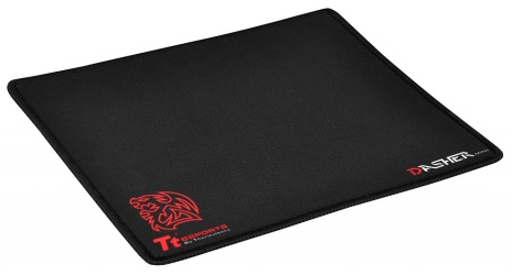 Mousepad Gamer Tt eSPORTS DASHER 2016, 25 x 21cm, Grosor 2mm, Negro