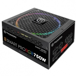 Fuente de Poder Thermaltake Smart Pro RGB 80 PLUS Bronze, 24-pin ATX, 140mm, 750W