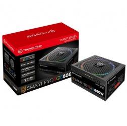 Fuente de Poder Thermaltake Smart Pro RGB 80 PLUS Bronze, 24-pin ATX, 140mm, 850W