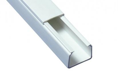 Thorsman Canaleta para Cable TMK 1720, 2x 1.1 Metros, Blanco