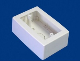 Thorsman Caja Plastica con Fondo, Blanco