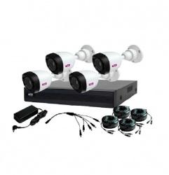 Topvision Kit de Vigilancia TOP2504 de 4 Cámaras CCTV Bullet y 4 Canales, con Grabadora