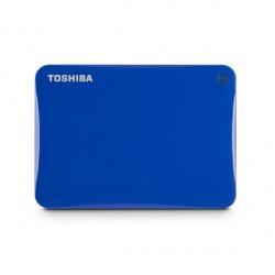 Disco Duro Externo Toshiba Canvio Connect II, 1TB, 5400RPM, USB 3.0, Azul, con Acceso Remoto Mediante Internet - para Mac/PC