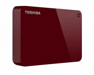 Disco Duro Externo Toshiba Canvio Advance 2.5'', 4TB, USB 3.0, Rojo
