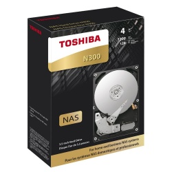 Disco Duro para NAS Toshiba N300 3.5'' de 1 a 8 Bahias, 4TB, SATA III, 6 Gbit/s, 7200RPM, 128MB Cache