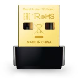 TP-Link Adaptador de Red USB Archer T2U Nano, Alámbrico, WLAN, 633 Mbit/s, 2.4/5GHz