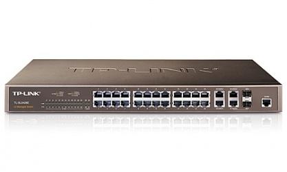 Switch TP-LINK Gigabit Ethernet TL-SL5428E, 24 Puertos 10/100Mbps + 4 Puertos Gigabit, 12.8 Gbit/s, 8000 Entradas - Gestionado