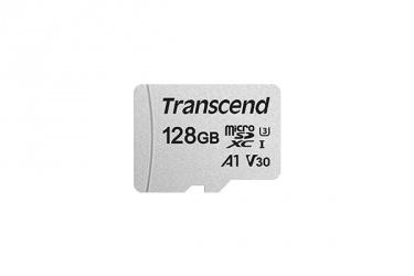 Memoria Flash Transcend 300S, 128GB MicroSDHC NAND Clase 10, con Adaptador