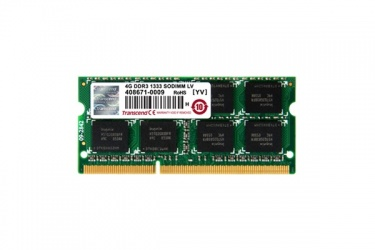 Memoria RAM Transcend aXeRam DDR3, 1066MHz, 2GB, CL7, Non-ECC, SO-DIMM