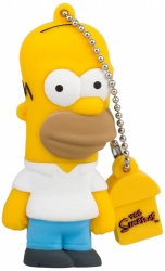 Memoria USB Tribe, 8GB, USB 2.0, Diseño Homero Los Simpsons