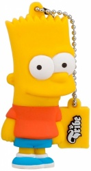 Memoria USB Tribe, 8GB, USB 2.0, Diseño Bart Los Simpsons