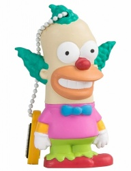 Memoria USB Tribe, 8GB, USB 2.0, Diseño Krusty Los Simpsons