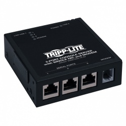 Tripp Lite Módem Integrado de 3 Puertos Seriales IP, para Servidor de Consola, 1x RJ-45, USB 2.0