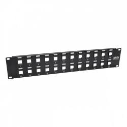 Tripp Lite Panel de Parcheo Cat5e/6, 24 Puertos, 1U, Negro