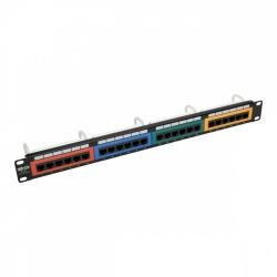 Tripp Lite Panel de Parcheo Tipo 110 Cat6 de 24 Puertos, RJ-45, 1U, Negro