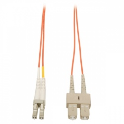 Tripp LIte Cable Fibra Óptica Duplex LC Macho - SC Macho, 62.5/125, 3 Metros, Naranja