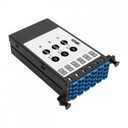Tripp Lite Módulo Multiconector de 12 Adaptadores Fibra Óptica LC, x3 MTP/MPO, Negro/Azul