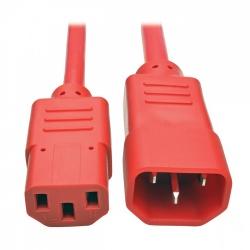 Tripp Lite Cable de Poder C14 Macho - C13 Hembra, 1.8 Metros, Rojo