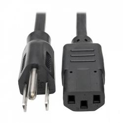Tripp Lite Cable de Poder NEMA 5-15P Macho - C13 Coupler Hembra, 91cm, Negro