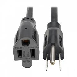 Tripp Lite Cable de Poder NEMA 5-15P Macho - NEMA 5-15R Hembra, 30cm, Negro