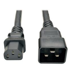 Tripp Lite Cable de Poder C13 Acoplador Macho - C20 Acoplador Hembra, 2.13 Metros, Negro