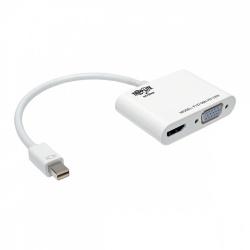 Tripp Lite Adaptador Convertidor Todo en Uno Keyspan Mini DisplayPort 1.2 Macho - VGA/HDMI Hembra, Blanco