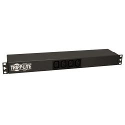 Tripp Lite PDU Monofásico Básico, 1.6-3.8kW, 16/20A 100-240V, 2 Tomacorrientes, Instalación Horizontal 1U en Rack