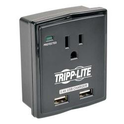 Tripp Lite Supresor de Picos Protect It!, 1 Contacto, 2x USB 1080 Joules, Negro