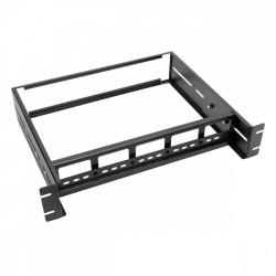 Tripp Lite Soporte de Riel DIN Ajustable para Rack 2U, hasta 18Kg, Negro